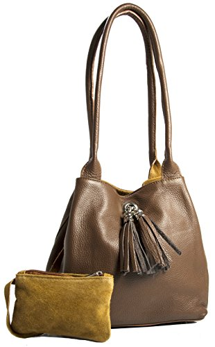 Big Handbag Shop, Borsa a mano donna One Dark Tan