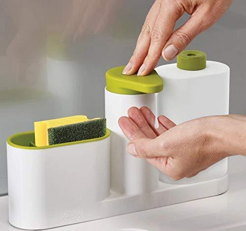Cocina lavavajillas esponja de almacenamiento estante de cocina Fregadero multifunción lavaplatos dispensador de jabón desinfectante para las manos botella
