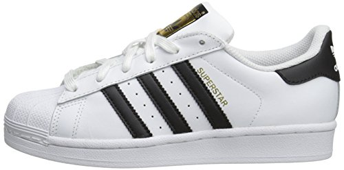 adidas Unisex-Child Superstar J Skate Shoe, White / Black, M US Big Kid