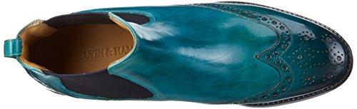 Melvin & Hamilton Amelie 5, Bottes Classiques femme Turquoise - Türkis (Crust Turquoise/Ela.Navy/LS)