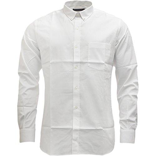 Fcuk à manches longues pour homme tailles S M L XL XXL Blanc - Blanc