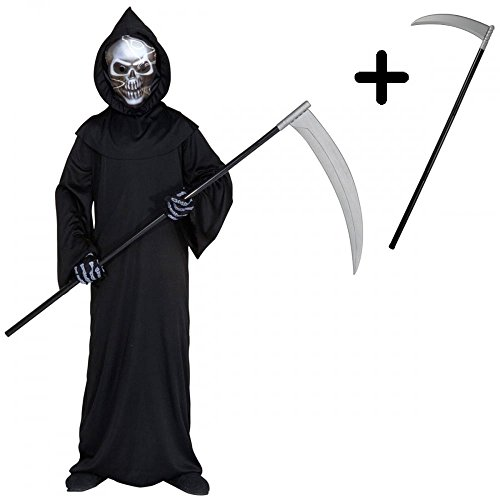 A2ZFD Holographic Grim Reaper Kids Boys Girls Halloween -