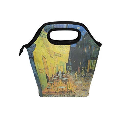Eslifey Van Gogh Café Terrace Place Du Forum bei Nacht Lunch-Tasche, tragbare Lunch-Tasche, Reisetasche, Lunchbox, Picknick, Schule, Handtaschen für Büro -