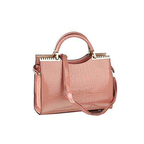 Emotionlin Fashion Designer Tote Bags Qualità Delle Donne Alla Moda Di Vendita Caldo Borse Large Size Shoulder Bags(Black) Pink