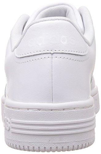 adidas Jungen Team Court Turnschuhe Blanco / Plateado (Ftwbla / Ftwbla / Plamat)