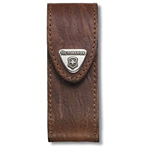 41VkZKsTovL. SS300  - Victorinox V4.0543 4.0543 Leather-Belt Pouch for Officer's Knife 2-4 Layers, Brown, 27 cm