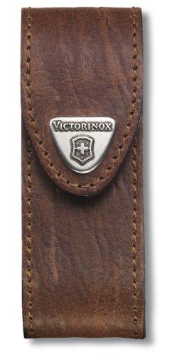 Victorinox Leder-Etui für Taschenmesser (Gürtelschlaufe, Klettverschluss, Braun, 3cm x 10cm, Braun) (Victorinox Tasche)