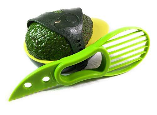 Alil Thing Safe Avocado-Schneider aus Kunststoff, Grün mit Avocado-Schonabdeckung (Samen Keeper)