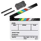 Zacro Film Clapboard, Cinematografico di Film Clapper, Acrilico Assicella Secco Acrylic Plastic Ciak Cinematografico, Multicolor