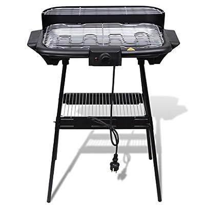 Arichtop Grill BBQ Standgrill Barbecue Tischgrill Elektrogrill Gartengrill mit einem eingebauten Temperaturregler ausgestattet, Edelstahl Barbecue