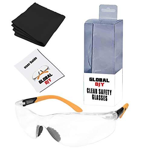 Globales DIY - Schutzbrille, geringes Gewicht, Anti-Beschlag, bruchsicher, Rahmenlos, Weitsicht, Softnasenpolsterung, stoßfest, UV-Filter, Lichtdurchlässigkeit, High-Speed Partikelschutz, transparent