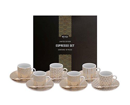Tokyo Design Studio, Limited Edition, Expresso Set gold, 18tlg, Geschenkbox