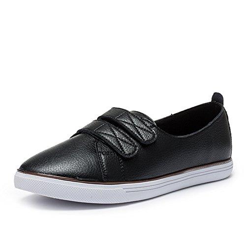 Dames Loisirs Bas Talon Chaussures,Autocollant En Bas Plat De Magie De Petites Chaussures Blanches B