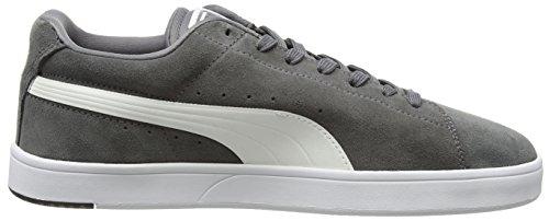 Puma Suede S S6, Scarpe da Ginnastica Unisex – Adulto Grigio (Grey (Grey/White))