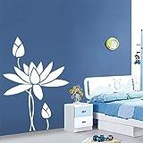 43 * 61 cm Fiori d'arte Sticksers Home Decorare Home Style in stile nordico per il Living Room Office Office Decoration Parete in pvc
