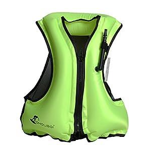 Royal Venus Gonfiabile Portatile Gilet galleggiante Per Adulti,Floatage Vest,Nuoto, Boccaglio, Nuoto. Surf, Immersioni, Canottaggio, Kayak, Canyoning (verde)