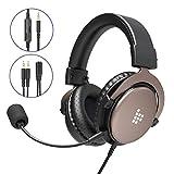 Tronsmart SONO Gaming Kopfhörer, für PS4 Xbox One PC Professioneller 3.5mm Over-Ear Gaming Headset, Stereo Sound Mikrofon mit Rauschunterdrückung, Intensiven Bässen für Computer Laptop Mac
