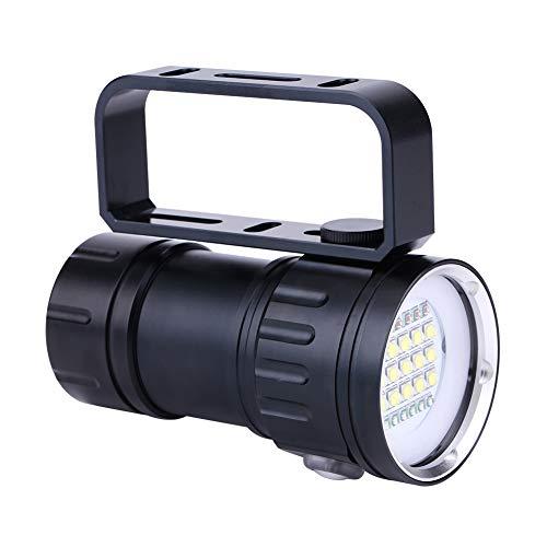 Akozon Torcia subacquea 18000 lumen IPX8 luci subacquee 500M torcia subacquea LED luci sommergibili