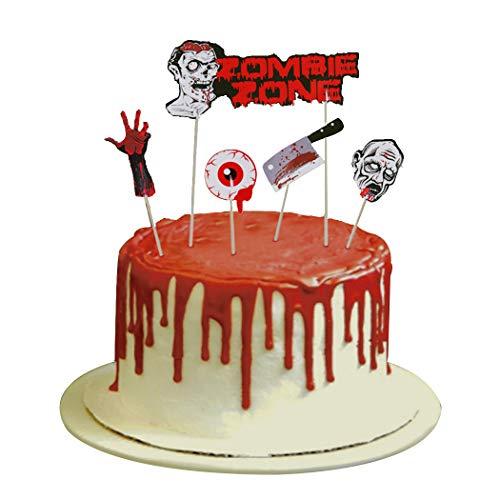 reckliche Zombie Cupcake Topper Party Dekoration für Halloween ()