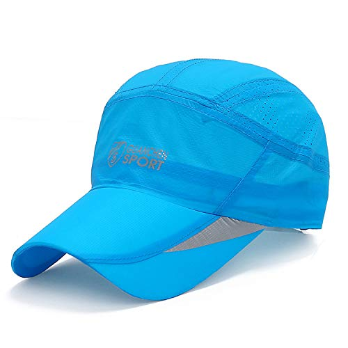 zhuzhuwen Frühling und Sommer schnell trocknende Hut Baseballmütze Outdoor UV-Visier Mode lässig Kappe 2 56-62cm