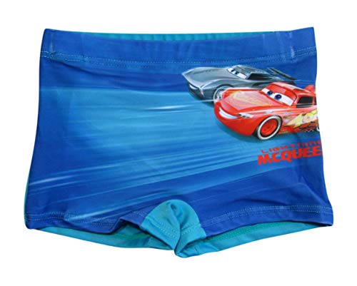 Cars Disney 3 Kollektion 2018 Badehose 92 98 104 110 116 122 128 Jungen Lightning McQueen Badeshorts Blau (Blau, 104-110)