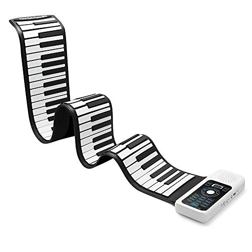 WMING 88 Tasten Silikon Portable Piano Flexible Foldable Piano Digital Music Instrument Roll Up Electronic Soft Keyboard Piano - Flexible Portable Keyboard