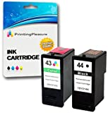 2 Tintenpatronen kompatibel zu Lexmark 44XL / 43XL für Lexmark X4800 X4850 X4875 X4950 X4975 X4975ve X6570 X6575 X7550 X7675 X9350 X9575 P350 Z1520 - Schwarz/Color, Hohe Kapazität
