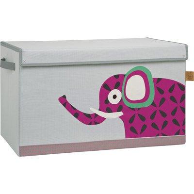 *Lässig Storage Toy Trunk Aufbewahrungsbox mit Deckel für Kinderzimmer, Wildlife Elephant*