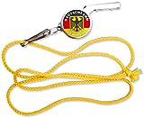 Trillerpfeife Schiedsrichter Pfeife - schwarz rot gold - Deutschland - 02270