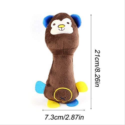 GOPW Haustier-Spielzeug für Hunde und Katzen, Plüsch, quietschend, lustiges Fleece, langlebig, für alle Haustiere, Elefant, Entenschwein, 25 cm -