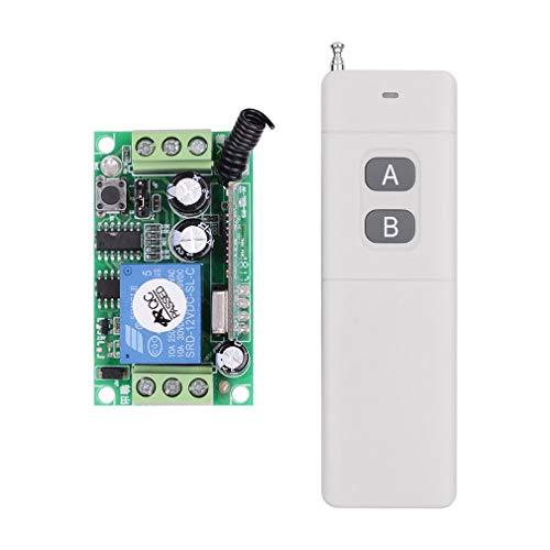 DERNON Fyt230 Dc12v12v24v220v Single Wireless Remote Control Switch Zugangskontrolle weiß -