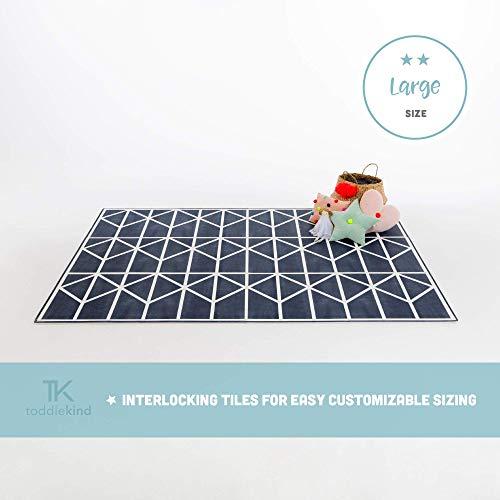 Krabbelmatte von Toddlekind |Spielmatte in Premium Qualität Extra Dicke, Abwischbare Puzzlematte Blau, multifunktional Kinder Spielteppich 0m+