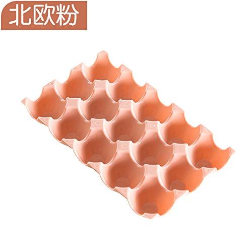 ShouYu Gruppe von 2 dicken Kunststoff Stapelbar 15 format Eier zugeben, dass die A816 Kühlschrank bruchsichere Box - Ente - ei ei Fach, der Nordischen Pulver (Ente-ei-boxen)