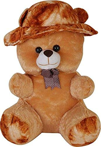 Piqant Brown Beautiful Teddy Bear with Cap (30 cm)
