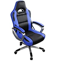 Desk Chair,IntimaTe WM Heart Racing Gaming Style PU Leather Swivel Office Chair Recliner Tilt & Lock Function Executive Computer Task Chair