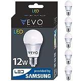 5er pack LED E27 12W A+ Lampe, 1000 Lumen, Markenqualität, SMD2835 SAMSUNG, Warmweiß 3000K