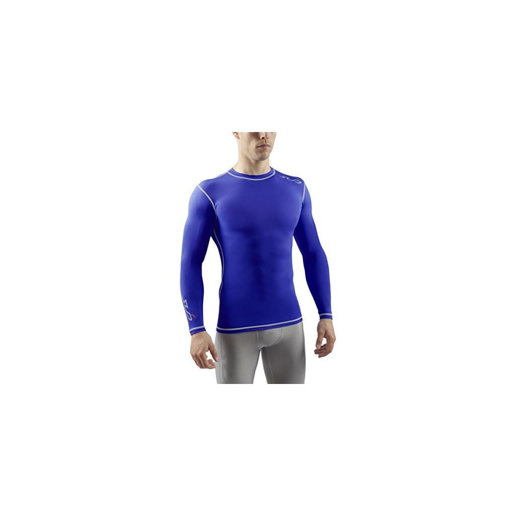 Sub Sports Maglietta a Compressione Uomo Biancheria Intima Tecnica Base Layer a Maniche Lunghe