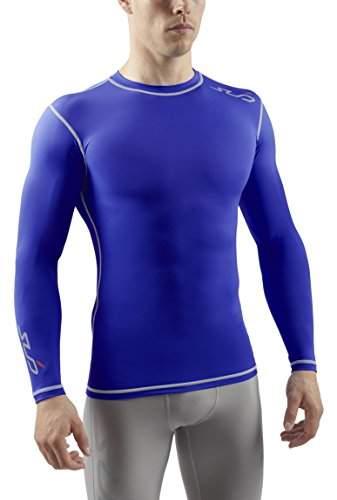 Sub Sports Herren Dual Kompressionsshirt Funktionswäsche Base Layer langarm Royal, L -