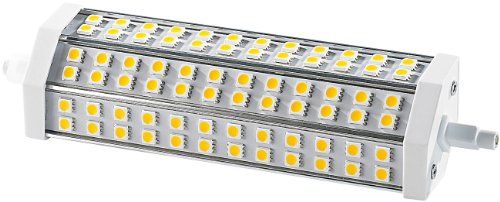 Luminea LED Halogenstab: LED-SMD-Lampe mit 72 High-Power-LEDs R7S 189mm, warmweiß (R7S Lichter)