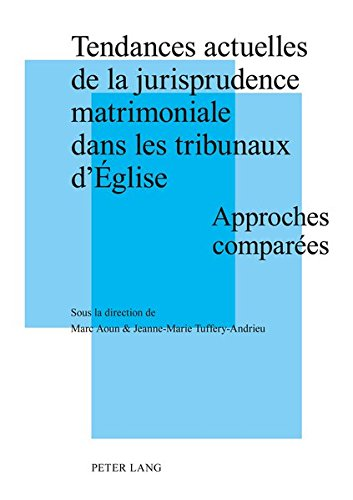 Tendances Actuelles De La Jurisprudence Matrimoniale Dans Les Tribunaux D'eglise: Approches comparees actes de la journee d'etudes tenue a Strasbourg ... (UMR7012) de l'universite de Strasbourg