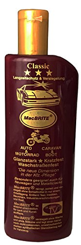 "1 Flasche Autopolitur ""MacBRITE\"" Classic = 500ml, CarBRIGHT"