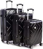 Scratch-Resistant Polycarbonate | Lightness 3 Piece Suitcase Set | 3 Digit TSA Approved