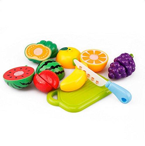 hosaire piezas corte de juguetes de frutas hortalizas y pizza juego de plstico para nios juguetes set de alimentos de corte juguete del beb