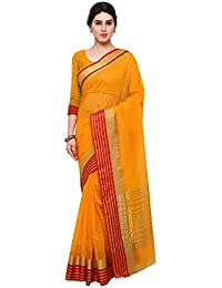 Mrinalika Fashion Silk Cotton Saree (Silk Sarees_Yellow)