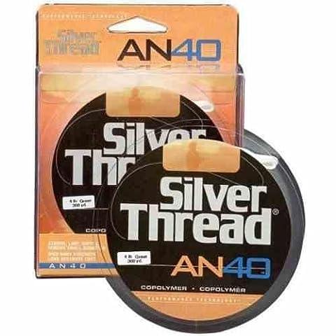 Pradco Silver Thread AN40 Filler Spool Fishing Line-300 Yards (Green, 10-Pound Test)