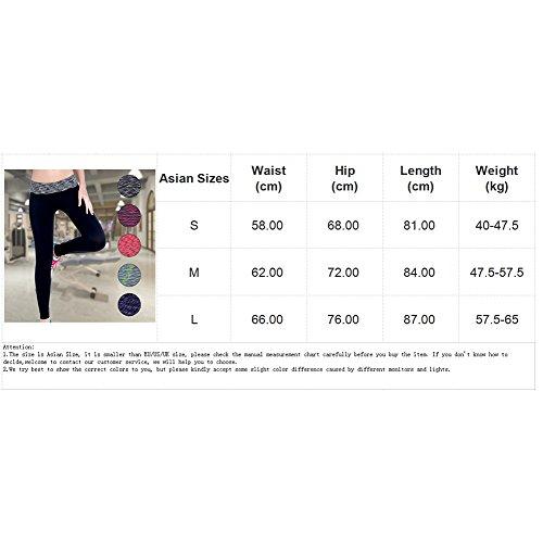 Ming Legging de sport Femme à Séchage Bicolore Elastique Sportifs Fitness/Gym Bleu