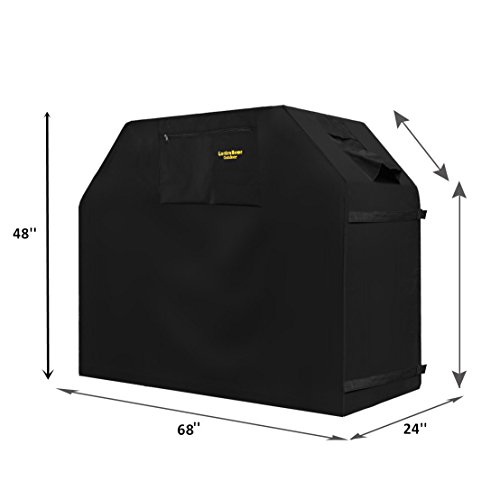 Unique Home -Grill Abdeckhaube, Grillabdeckung Wasserdicht BBQ Cover Schutzhuelle Haube Grill Abdeckplane für Weber, Brinkmann, Char Broil, Holland and Jenn Air 68in (173 x 61 x 122cm)—Schwarz (Outdoor-grill-hauben)