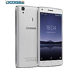 DOOGEE X5 MAX PRO Telefonos Moviles Libres, 4G LTE Móviles y Smartphones Libres - 5 Pantalla - 2GB RAM + 16GN ROM - Batería de 4000mAh - Android 6.0 - Huella Dactilar, OTG - (Blanco)