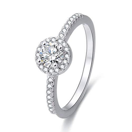 Gold gala anello donna in argento 925% rodiato con zirconi bianchi cerchio halo (20)