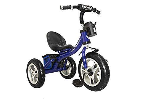 Little Bambino Rideon Pedale Triciclo per Bambini Smart Design a 3Ruote | Blu | Approvato Air Ruote Seduta Regolabile in Metallo Bell